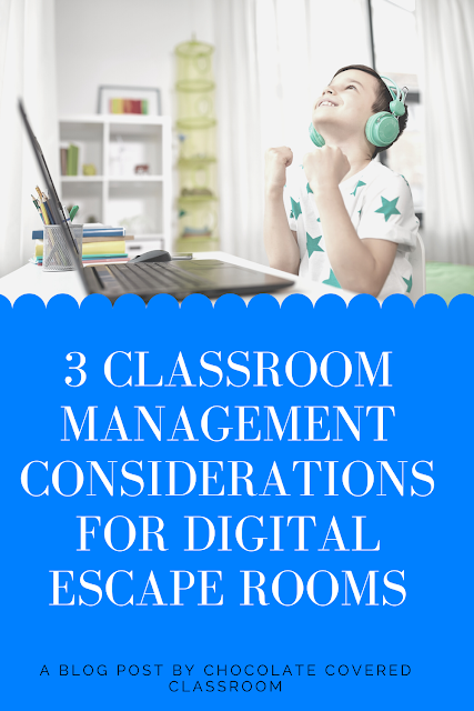 3 classroom management tips for using digital escape rooms in the upper elementary classroom