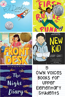 5 own voices chapter books that you must add to your classroom library! Books that add diversity help each student in your class to feel represented.