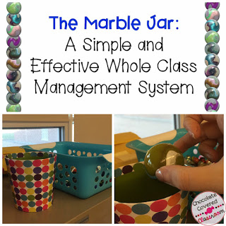 Simple and effective classroom management idea for upper elementary teachers. Perfect for grade 4, 5 and 6! Marble Jar Incentive