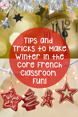 Tips and Tricks for making winter in the French as a Second Language Classroom as engaging as possible! Upper Elementary students will love learning about Noel, le jour de l'an and la Fête des Rois. Perfect for January and February in the core French classroom. Alberta Grade 5 FSL