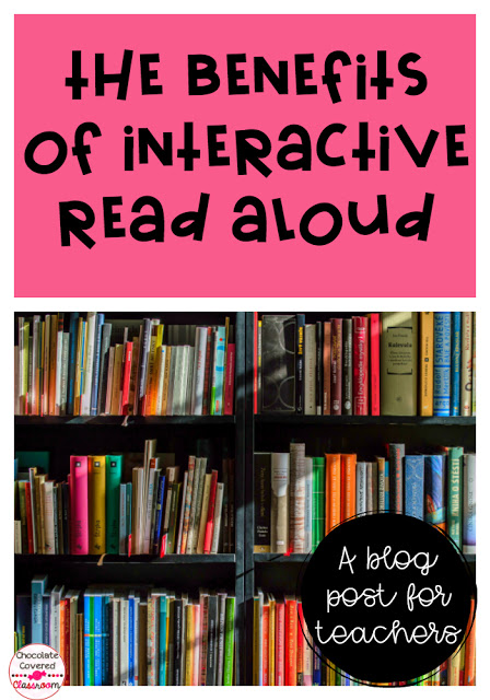 the benefits of interactive read aloud - an informational blog post for elementary and junior high teachers