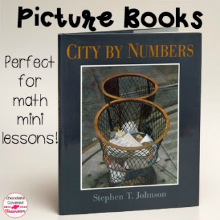 City By Numbers - incorporating picture books into math mini lessons - perfect for elementary school