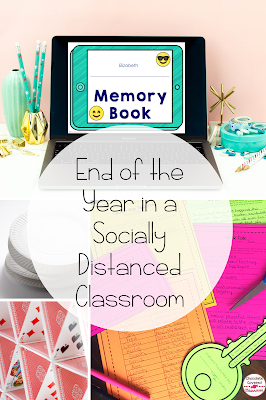 End of the year activities for the socially distanced classroom! The end of the school year is fast approaching! This blog post is filled with ideas that you can use to make your upper elementary year end celebration safe and fun. Included are 5 ways to celebrate the end of the school year, even with social distancing. These ideas for school parties will be loved by your grade 4 and grade 5 students. Your 4th and 5th grade students will love these virtual and in person activities.