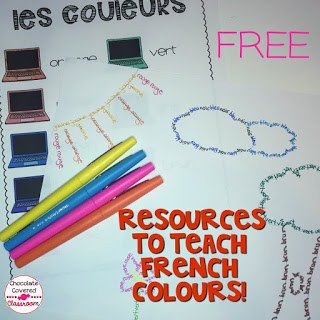 FREE French colors activity perfect for the upper elementary French as a Second Language Classroom