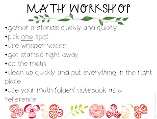 Launching Math Workshop in the upper elementary classroom - with freebies