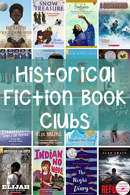 Are you an upper elementary teacher planning historical fiction book clubs? Do you need book club book suggestions to accompany your reading workshop historical fiction unit? If so, this blog post is for you. The books are all organized by guided reading level so that you can easily find books that will work for your students. Perfect for grade 4 and grade 5 reading classes. These are the best historical fiction books for kids. Your 4th and 5th grade students will love these novels!