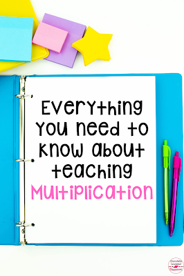 This blog post is full of activities, videos, word problems and free printable charts for teaching multiplication. There are ideas for teaching basic multiplication facts as well as two digit multiplication. Perfect for upper elementary math teachers. Links to songs that big kids love as well as a virtual escape room to review multi digi multiplication concepts. This blog post is for teachers looking to understand how to teach multiplication. These fun and easy activities will be a hit with!