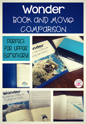 Wonder book and movie comparison activities! Perfect for teaching students 21st century literacy skills. Students will practice characterization, comparing and contrasting, predicting and more! Students will love watching the Wonder movie and comparing it to the original book by R.J. Palacio