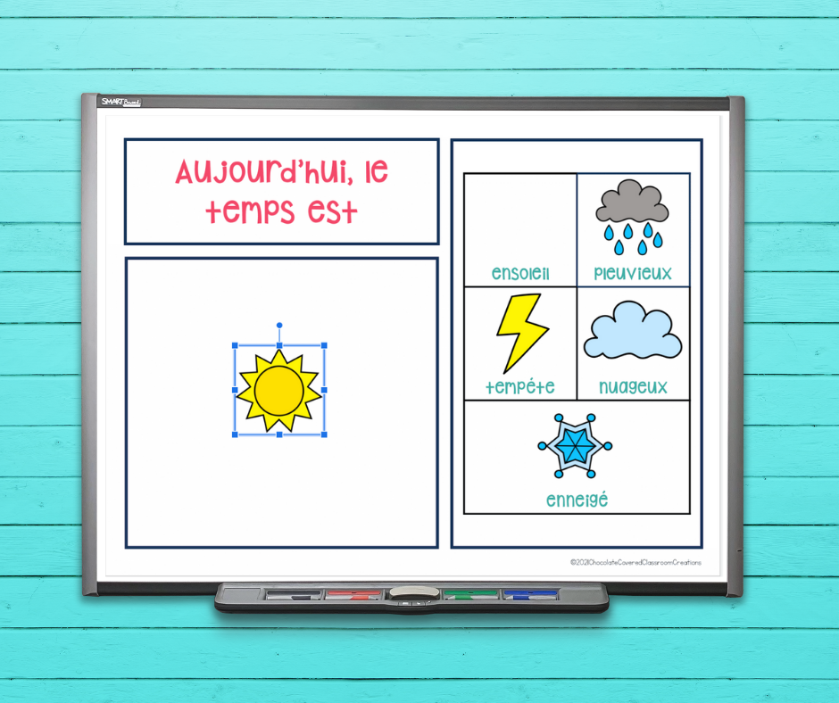 french digital weather activities for the second language classroom
