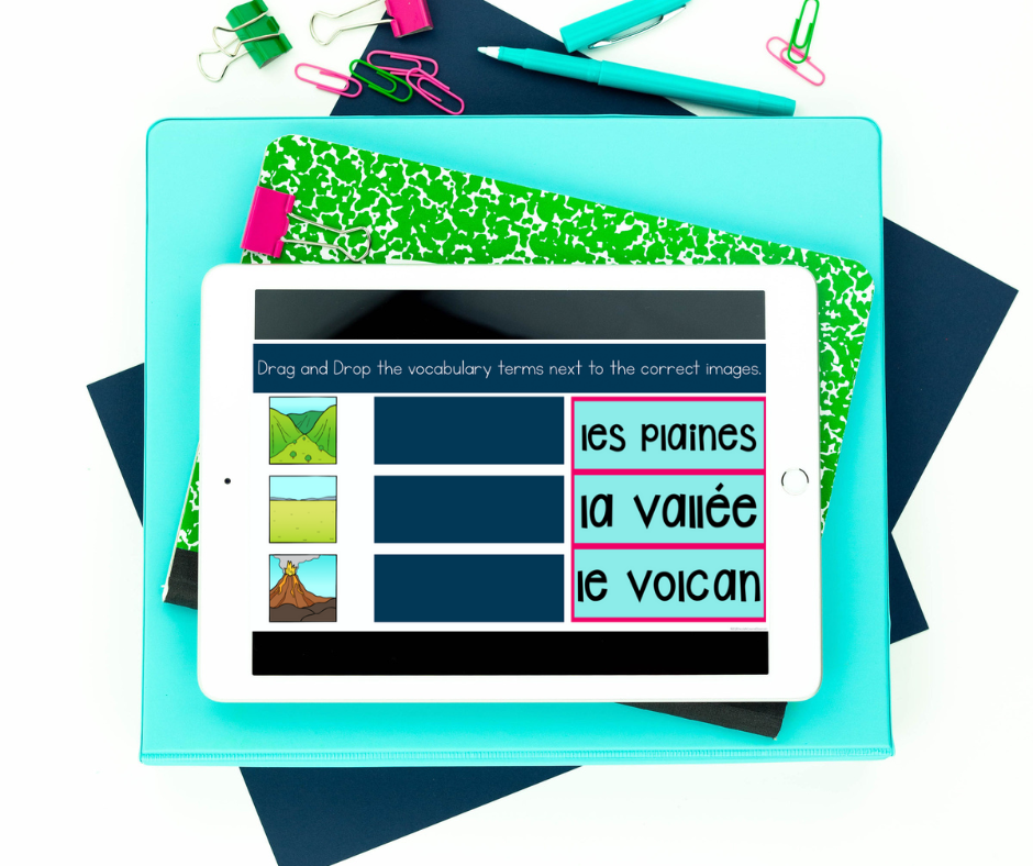 french digital landform activities for virtual learning in the second language classroom
