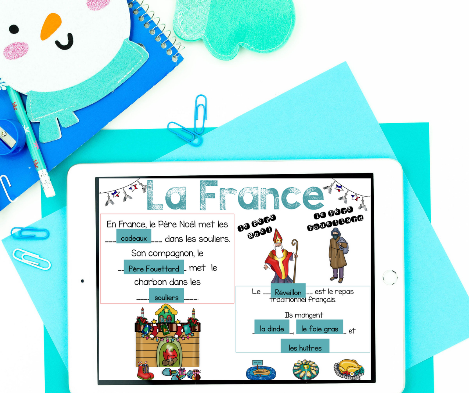 french christmas around the world immersive experience for second language classrooms