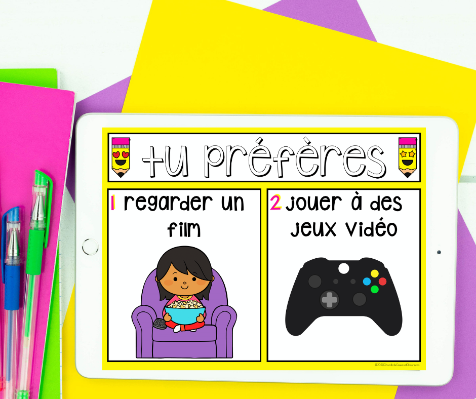 french would you rather fun oral language activity for the second language classroom