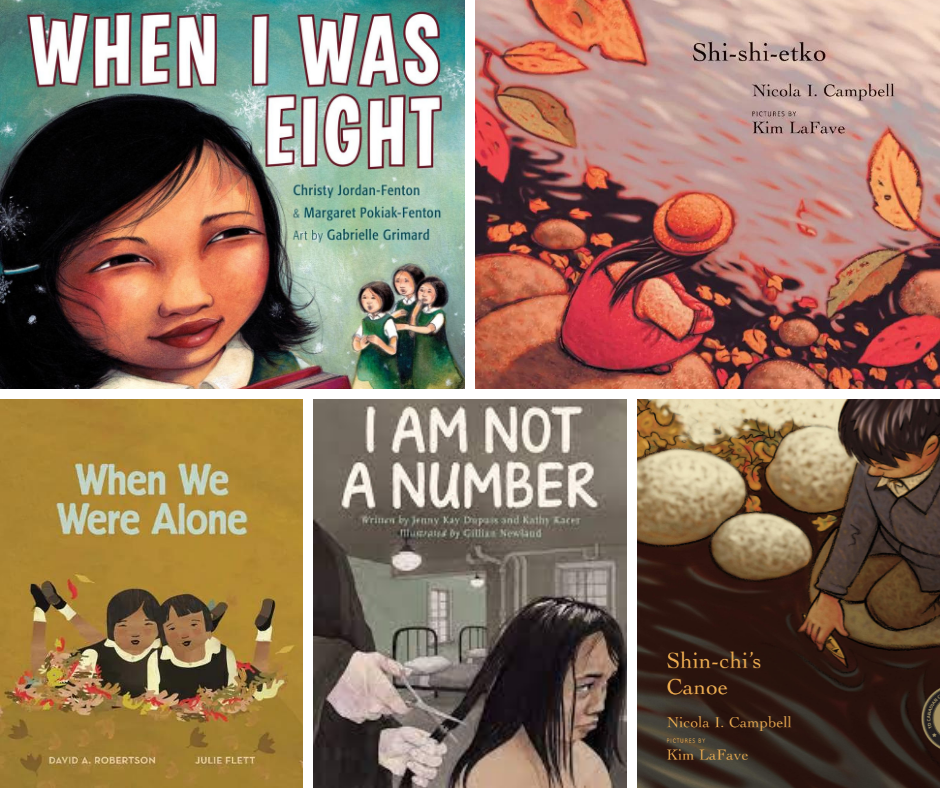 five picture books for orange shirt day in the elementary classroom