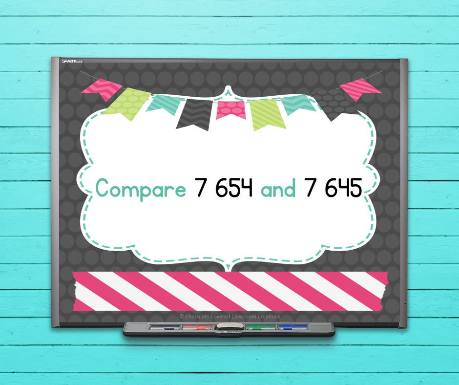 comparing and ordering numbers powerpoint presentation