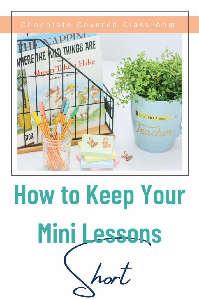 how to keep your reading workshop mini lessons short a blog post for upper elementary teachers