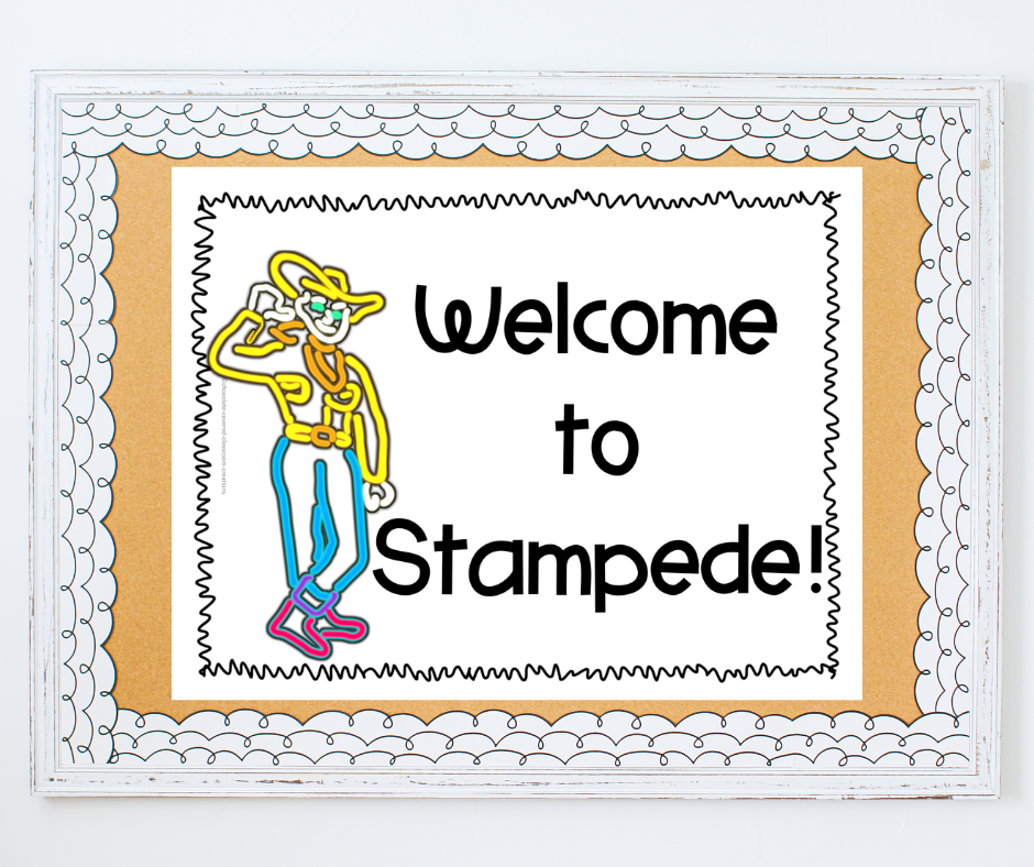 welcome to stampede sign for alberta's geographical regions unit
