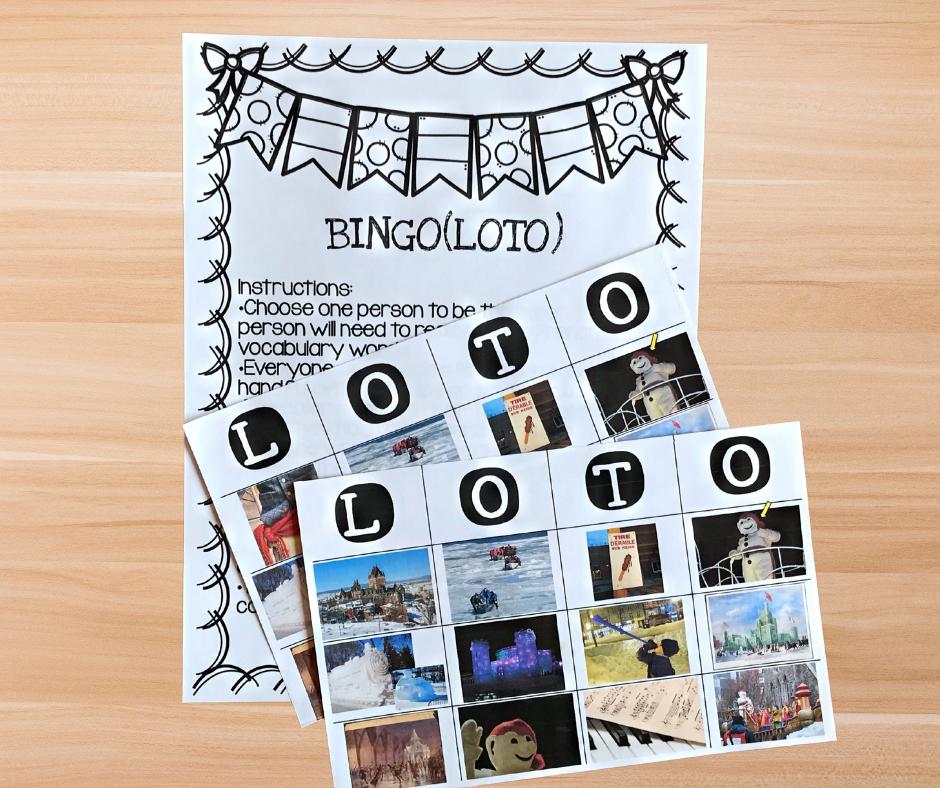Carnaval de Québec bingo game