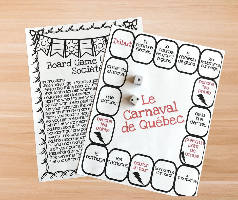Carnaval de Québec board game