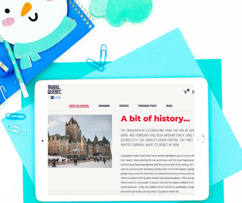 Carnaval de Québec research activity for the FSL classroom