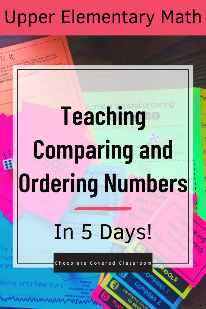 how to easily teach comparing and ordering numbers in 5 days a blog post for upper elementary teachers